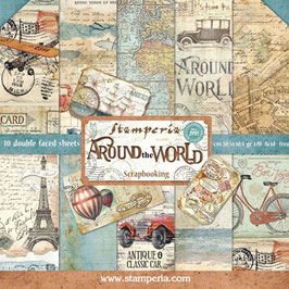 Stamperia-Paper Pad Around the World 12x12""
