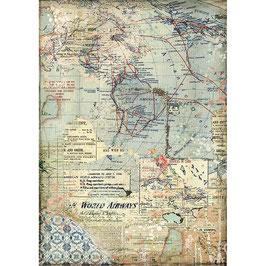 Stamperia Reispapier A4-DFSA4457
