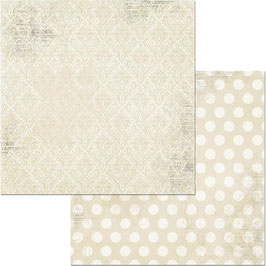 BoBunny-Double Dot Damask/French Vanilla