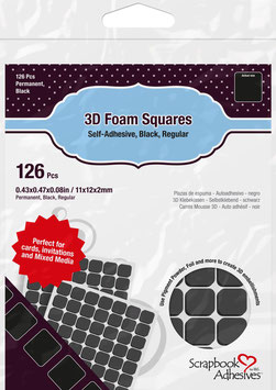 Scrapbook Adhesives-3D Foam Pads/regular schwarz