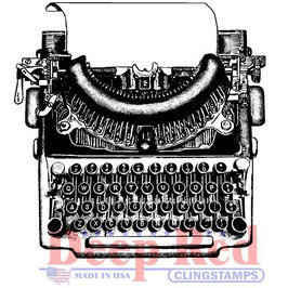 Deep Red-Stempel/Manual Typewriter