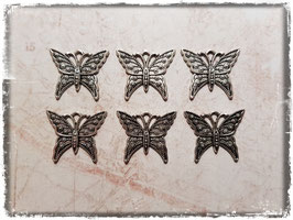 Metall Charms-Schmetterling Silber-285