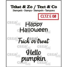 """Crealies-Clear Stamps English Text no.08 """"Halloween"""""""