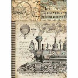 Stamperia Reispapier A4-Voyages Fantastiques DFSA4372