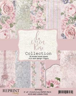 """Reprint-La vie en Rose Collection 6x6"""""""
