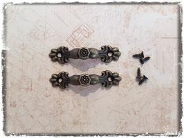 Schubladengriff - Vintage bronce klein 321