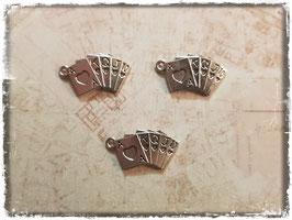 Metall Charms-Poker Karten Silber-1-206