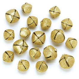 Darice-Giltter Jingle Bells/Gold Assorted