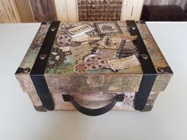 Kartonage-Vintage Koffer Modern Times