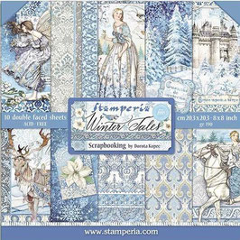 Stamperia-Paper Pad Winter Tales 8x8""