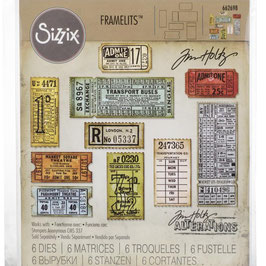 Sizzix by Tim Holtz Framelits-Stanzform/Ticket Booth