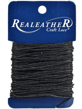 Realeather Crafts-Waxed Thread/Gewachster Faden-Schwarz