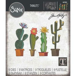 Sizzix by Tim Holtz Thinlits-Stanzform/Funky Cactus