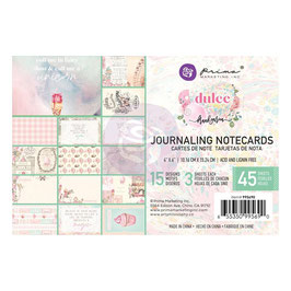 Prima Marketing-Dulce/Journaling Notecards 4x6""