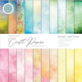 """Craft Consortium-Paper Pad/Grunge Light Tones 6x6"""""""