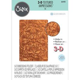 Sizzix-3D Prägeschablone/Floral Mandala