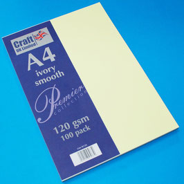 Craft UK-Premier Collection/Ivory Smooth A4