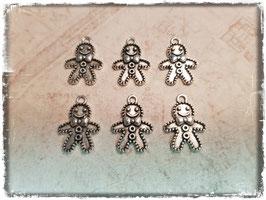Metall Charms-Lebkuchenmann Silber 1/215