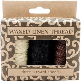 Lineco-Waxed Linen Thread/gewachster Faden-Natur, Braun, Schwarz