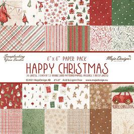 "Maja Design-Paper Pad Happy Christmas 6x6"""
