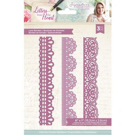 Crafter's Companion Stanzform-Letters from The Heart-Lace Borders Dies