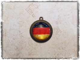 Cabochon Anhänger - Flagge Deutschland 1058