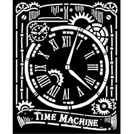 Stamperia-Stencil/Voyages Fantastiques-Clock KSTD071