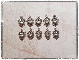 Metall Charms-Herzen Silber-232