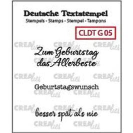 "Crealies-Clear Stamps ""Geburtstag 05"""
