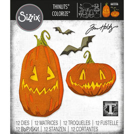 Sizzix by Tim Holtz Thinlits-Stanzform/Pumpkin Patch Colorize
