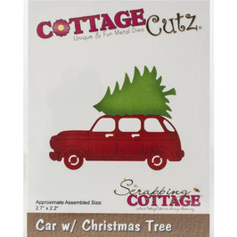Cottage Cutz Stanzform-Car W-Christmas Tree