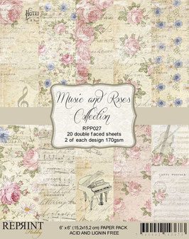 Reprint-Music & Roses Collection 6x6""