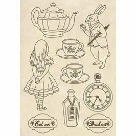 Stamperia-Holzformen A5-Alice KLSP054
