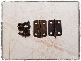Scharniere - Vintage Bronce sehr klein 358