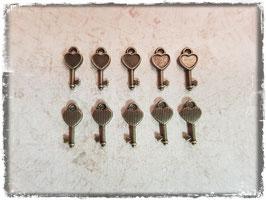 Metall Charms-Schlüssel Bronce-1-117
