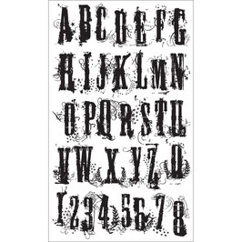 Stampers Anonymous by Tim Holtz-Stempel/Grudge Alphabet