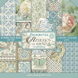 """Stamperia-Paper Pad Azulejos de Sueño 12x12"""""""