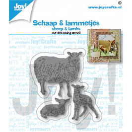 Joycrafts Stanzform-Sheep & lambs/Schaf & Lamm