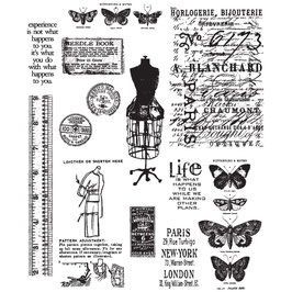 Stampers Anonymous by Tim Holtz-Stempel/Attic Treasures