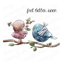 Stamping Bella-Cling Stamp/Bundle Girl With Berries