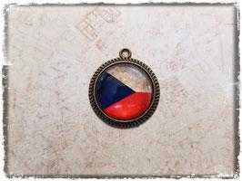 Cabochon Anhänger - Flagge Tschechien 2.038