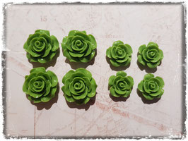 Harzblumen - olivgrün