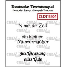 "Crealies-Clear Stamps ""Besserung 04"""
