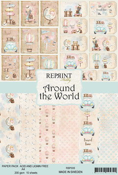 Reprint-Around the World Collection-A4 Paper Pad