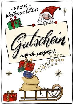 Gutschein Karte - Weihnachten