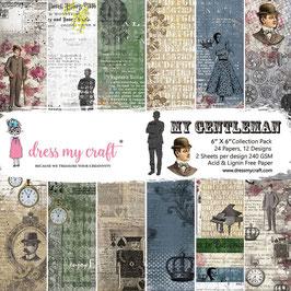 "Dress my Craft-Paper Pad My Gentleman 6x6"""
