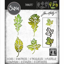 Sizzix by Tim Holtz Thinlits-Stanzform/Leaf print