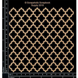Scrapaholic/Laser Cut Chipboard-Quatrefoil Panel
