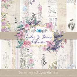 """Papers for you-Scrapbooking Papier/Ladies & Flowers 12x12"""""""