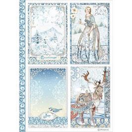 Stamperia Reispapier A4-Winter Tales DFSA4490